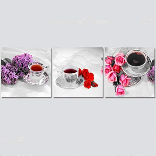 ASADVE 3 Piezas De Café De Alta Definición Moderna Pintura De Inyección De Tinta Núcleo De Grano De Café Pintura Decorativa Estudio En El Hogar Sofá Fondo Pintura De Pared Sin Marco 50Cmx50Cmx3