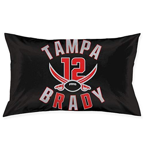 asdew987 Tampa Bay Brady Federa per cuscino per divano, decorazione per casa, rettangolare, 50 cm