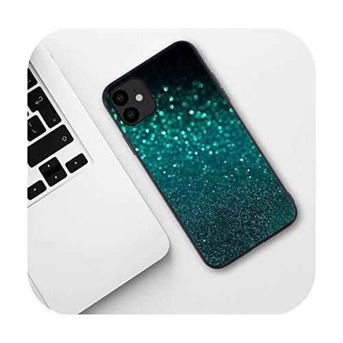 Funda para iPhone 5, 5S, 6, 6S, 7, 8 Plus, X, XS, XR, XS Max, 11, Pro Max SE, 12, Mini 12 Pro Max, B3, para iPhone 11 Pro, color verde menta