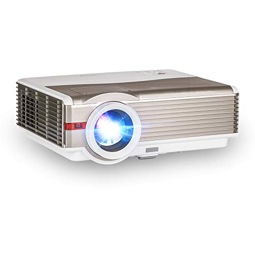 """EUG 4200 Lumen High Definition Projector with WiFi Android Max 200"""" LCD LED Multimedia Wireless Video Projectors Home Theater Movies Games with HDMI Aux Audio USB Speaker,Smartphones DVD TV Stick PC"""
