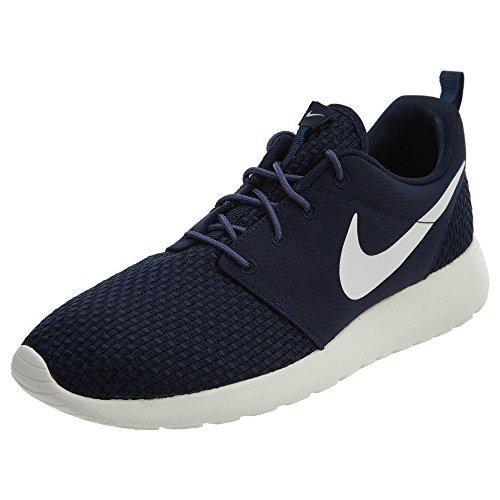 Nike Men's Roshe One Se Lightweight Cushioning Mesh Running Shoes Breathable Fashion Sneaker(Obsidian/Blue/Silver / 110)