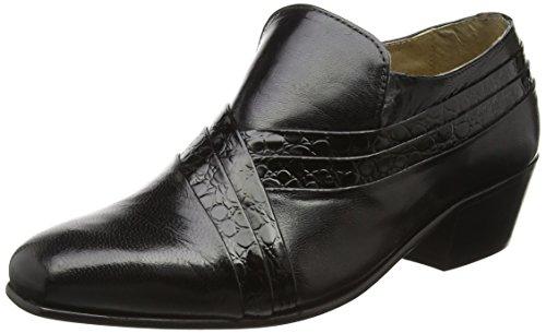 Montecatini Pablo Hombre Tacón Cubano Reptiles Zapatos de Cuero Negro - Negro, 12 UK