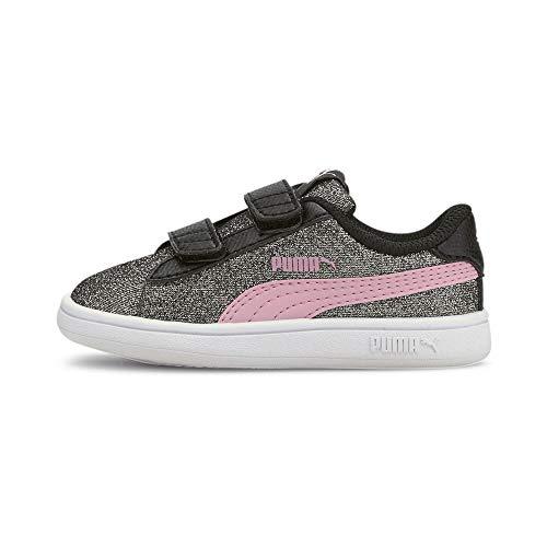 PUMA Baby Mädchen Smash V2 Glitz Glam V INF Sneaker, Black Pale Pink, 26 EU