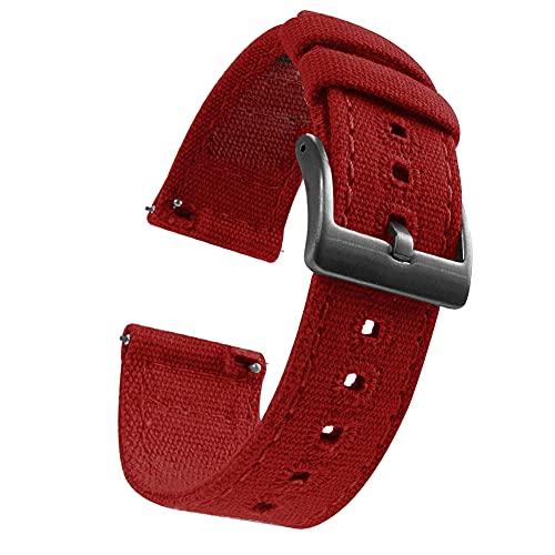 Shieranlee 22mm Correas de Tela para Reloj de Pulsera con Cierre rápido para Garmin Vivoactive 4 /Active/Samsung Galaxy Watch 46mm/Gear S3 Frontier/S3 Classic/Huawei Watch GT/Ticwatch Pro S2/E2