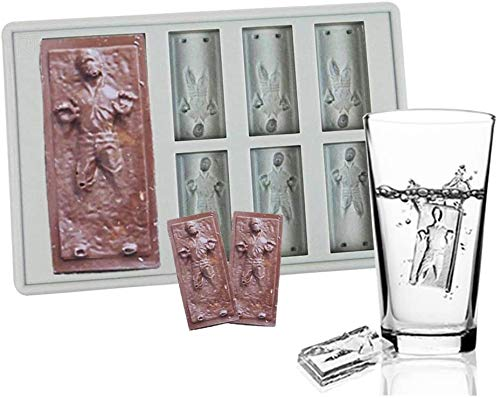 Star War Han Solo Candy Molds, Food Grade Silicone Han Solo Candy Making Mold and Ice Cube Tray, Silicone Ice Cube Trays for Starwars Fans