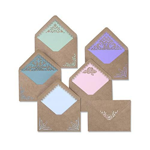Sizzix 663586 Umschlag und Liner Set Stanzschablonen, Mehrfarben, Einheitsgröße