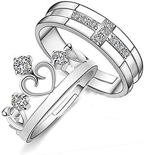 خاتم الأزواج النسخة الكورية من افتتاح الرجال والنساء خاتم ريترو مجوهرات تاج بسيطة