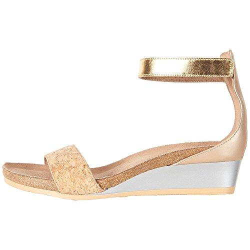 Naot Women's Pixie Wedge Sandal Cork/Champagne Lthr Combo 8 N US