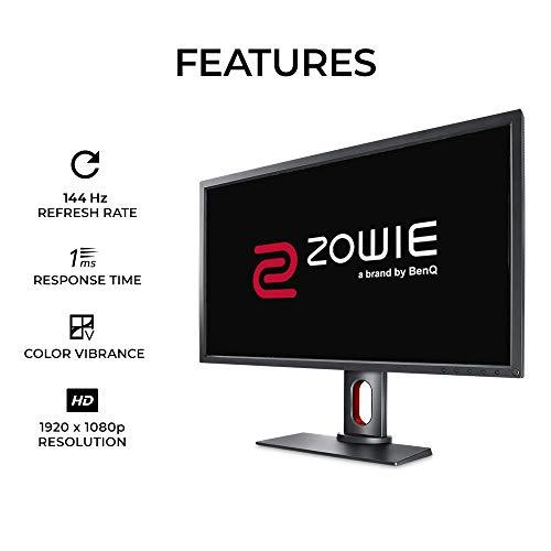 BenQ ZoWIE XL2731 68,6 cm (27 Zoll) 144 Hz Gaming-Monitor | 1080p 1ms | Schwarzer Equalizer & Farb-Vibranz für Wettbewerbskante | Höhenverstellbarer Ständer | 120Hz kompatibel für PS5 und Xbox Serie X