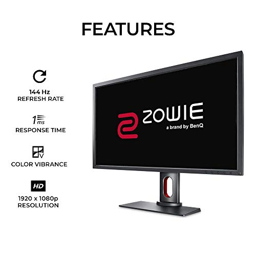 BenQ ZOWIE XL2731 Monitor para juegos de 27 pulgadas a 144 Hz, 1080p y 1 ms, Black eQualizer y Color Vibrance para disfrutar de ventaja competitiva, Soporte regulable en altura