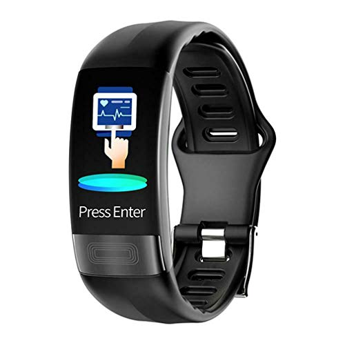 SUNWIND Smart Fitness Tracker, Smart-Sport-Armband-Puls-Monitor-Blutdruckmessgerät Schlaf-Monitor mit PPG ECG Ganztägige Übung Bilanz,Schwarz