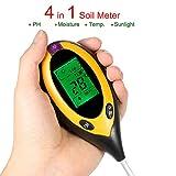 ZhongYe 4-in-1 Soil Tester Moisture Meter PH Levels Temperature Sunlight Lux Intensity Survey...