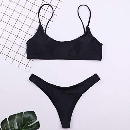 Wghz courte de Bikini en Maillot de Bain Trois Points Noir et Blanc pour la Plage, S, Blanc