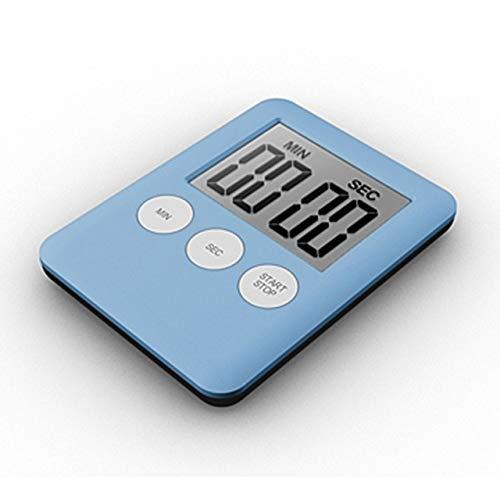 Mini-LCD-Digital-Display-Küche-Timer-Platz Küche Countdown Alarm Magneten Uhr Schlaf Stoppuhr Zeitschaltuhr (Color : Sky Blue)