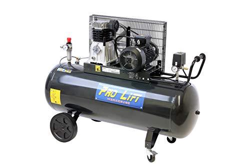 Pro-Lift-Gereedschappen compressor 3 kW luchtcompressor 10 bar 380 V afgegeven hoeveelheid 360 l/min werkplaatscompressor persluchtketel 200 l