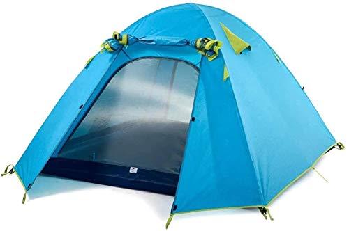 DZHTSWD Mini Kids Tent,Outdoor travel tents family camping tents, outdoor tent camping ultralight waterproof PU2000 (Color : Blue) fashion (Color : Blue)