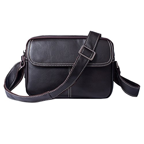 Zhhlinyuan Multifonctional Business Casual Mallette Crossbody Millésime PU cuir pour Hommes Travail,Voyage,Daily Use