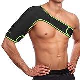 SaniVerde® Schulterbandage Verstellbare Schulter Unterstützung Bandage, für Verletzungen, Schulterschmerzen, arthritische Schultern, Neopren Schulterwärmer, für Linke/Rechte Schulter, Männer/Frauen