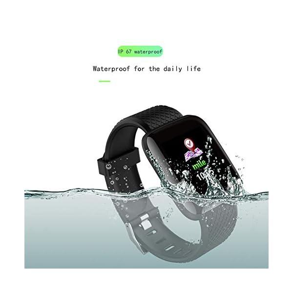 Pantalla a Color de OLED Tocar Sports Fitness Watch IP67 Reloj de Pulsera