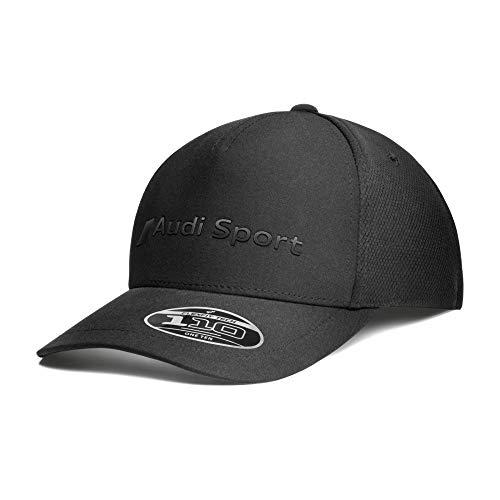 Audi 3132002100 Basecap Flexfit Baseballkappe Cap, schwarz, Mittel