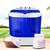 300W Rated Wash Power Semi-automatic Washing Machine White & Blue Washer With Twin Tub Design (White & Blue 10lb)