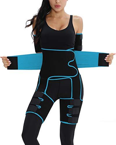 Enhancer High Waist Arm Thigh Trainer, Butt Lifter Slimming Support Belt Plus Size Waist Trimmer(Blue,4XL/5XL)