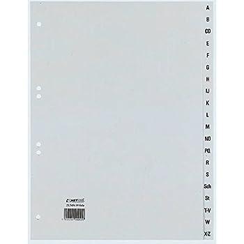 Tacche Colorate Elba 100204790 Divisori in Polipropilene Numerici 1-31 Formato Interno 21X29,7 cm
