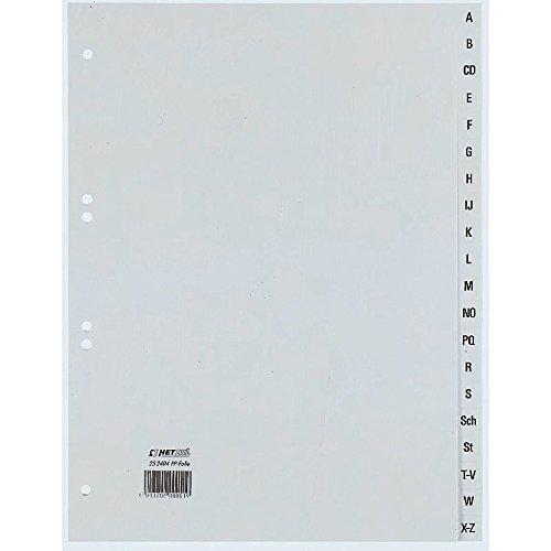 Rexel Ordnerregister Polypropylen (Alphabetische, DIN A4) grau