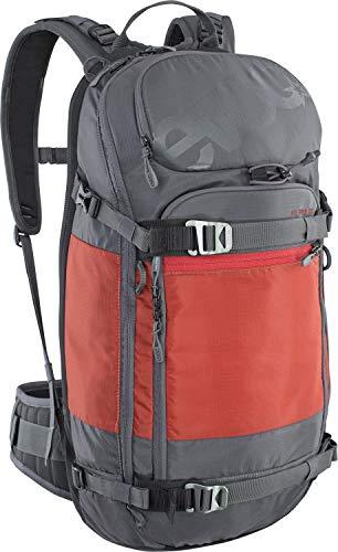Evoc FR Pro Grau-Rot, Snowboard-Rucksack, Größe M-L - Farbe Carbon Grey - Chili Red