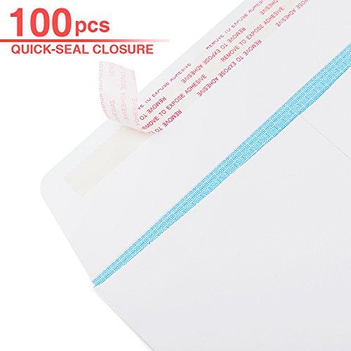 Acko 100 9x12 White Envelopes Self Seal Security Catalog Envelopes, Photos & Documents Mailing Quick-Seal Closure
