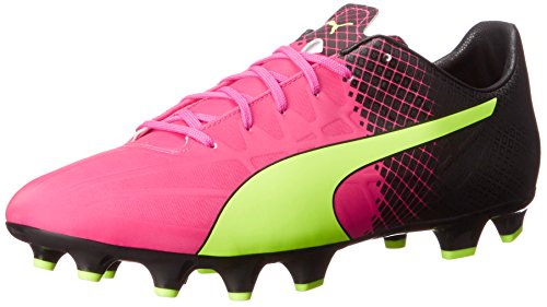 PUMA Herren Evospeed 4.5 Firm Ground Sneaker, Pink - Pink Glow Safety Gelb - Größe: 40 EU