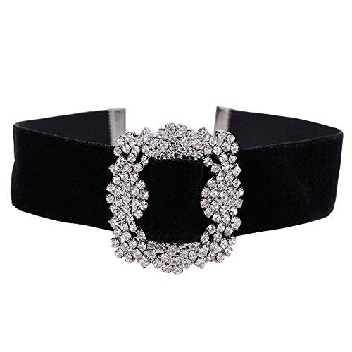 hacoly terciopelo diamond collar gargantilla de terciopelo collar Classic negro colgante Halskette para boda prestaciones accesorios de viaje para niñas Mujeres