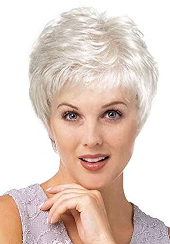 Royalfirst - Peluca de Pelo sintético para Mujer, Color Gris