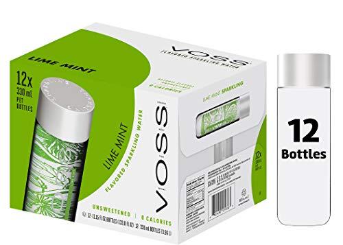 VOSS Water Lime Mint 330 ml, natürlich-fruchtiger Geschmack, 12er Pack (Einweg, 12 x 330 ml)