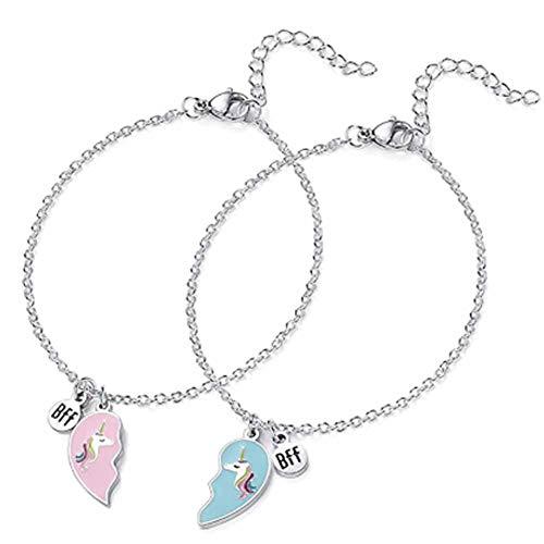 Pulsera de unicornio, pulsera de pareja, pulsera de amistad, el mejor regalo para parejas o hermanas.