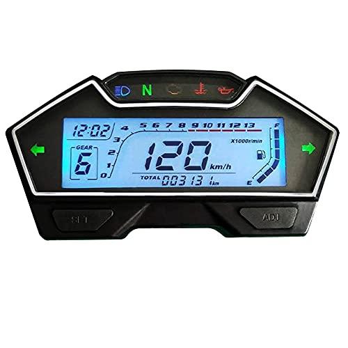 SAMDO Universal Motorcycle Speedometer Odometer Tachometer RPM Speedometer Gauge 199 Kph Mph for Carburetor Motor