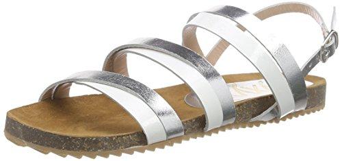 xyxyx Sandale, Damen Knöchelriemchen Sandalen, Weiß (white), 40 EU