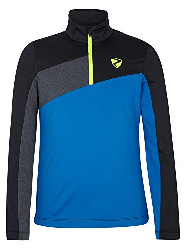 Ziener Jungen Josias Junior Skipullover, Skirolli, Funktions-Shirt | Langarm, Atmungsaktiv, Persian Blue, 176