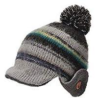 [ライオン堂] カンフィーワッチ (帽子)秋冬 ポンポン ニット帽 小さめ 小さいサイズ かわいい カラフル 55cm~57cm推奨 ブラック