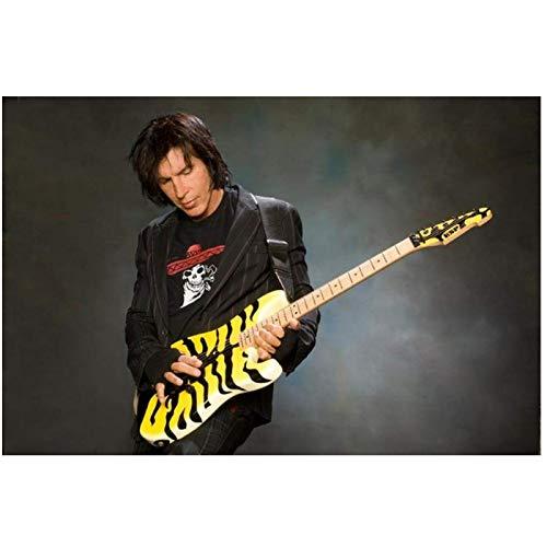 Yxjj1 Carteles clásicos Art Deco y obras de lienzo de guitarra de Eddie Van Halen, los mejores guitarristas-20 x 30 en sin marco