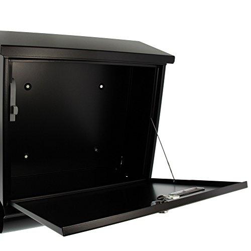 BURG-WÄCHTER, Briefkasten-Set mit integriertem Zeitungsfach, A4 Einwurf-Format, Verzinkter Stahl, Comfort-Set 91300 S, Schwarz - 4