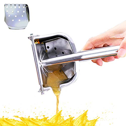 Manual Juicer Stainless Steel, Easy to Use Every day Lemon Squeezer, Orange Juicer, Lime Squeezer, Portable Detachable Hand Press Heavy Duty Food Grade Juicer Extractor Tool