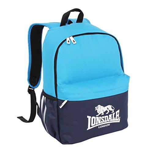 Lonsdale Unisex Pocket Rucksack Reißverschluss Marineblau/Blau Einheitsgröße