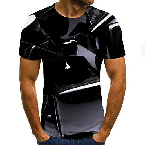 T-Shirt d'été col Rond T-Shirt Hommes T-Shirt 3D Cool Beige Blanc T-Shirt 4XL Txu-1107