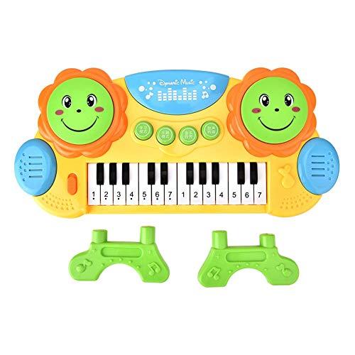 Naroote Elektronisches Musikspielzeug,Plastikmusik Spielzeug Fr¨¹herziehung Spielzeug, Kindheit Elektronische Tastatur Handtrommeln Leichtes Lernen Klavier