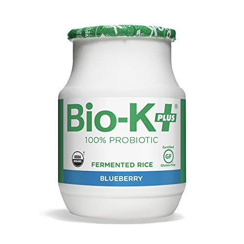 Bio-K Plus - Blueberry Flavor, Drinkable Probiotics for Women & Men - Fermented Rice, Dairy-Free, Featuring 50 Billion Live & Active Bacteria, Gluten-Free, Vegan - Shipped Cold (6) Bottles, 3.5 oz