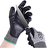 Donfri 耐切創手袋 軍手 防刃 防刃手袋 作業用 手袋 滑り止め レベル5の耐切断性