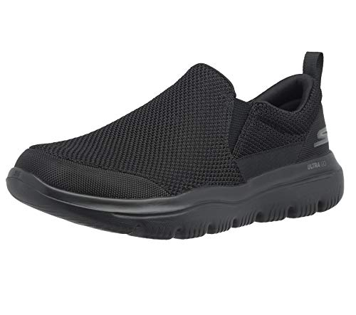 Skechers Men's GO Walk Evolution Ultra-Impeccable Sneaker, Black, 10.5 M US