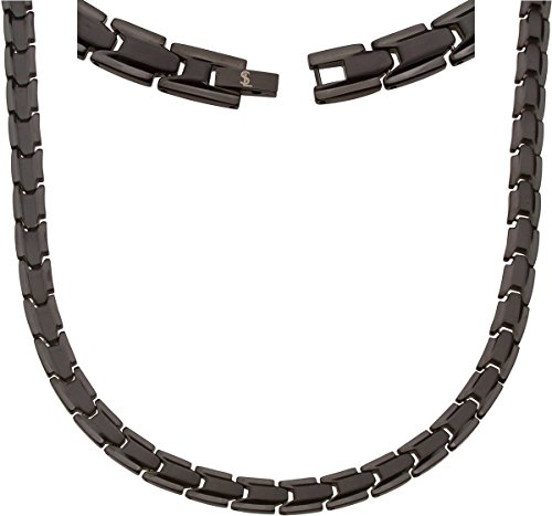 Elegant Titanium Magnetic Therapy Necklace Pain Relief for Neck Arthritis Migraine Headaches Shoulders and Back