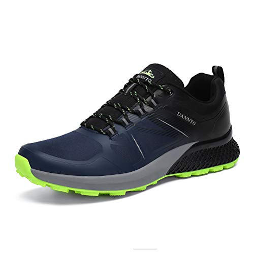 Dannto Herren Trekkingschuhe rutschfest Laufschuhe Warme Sportschuhe Wanderschuhe Winterschuhe Leicht Outdoorschuhe Arbeitsstiefel (Blau,44)